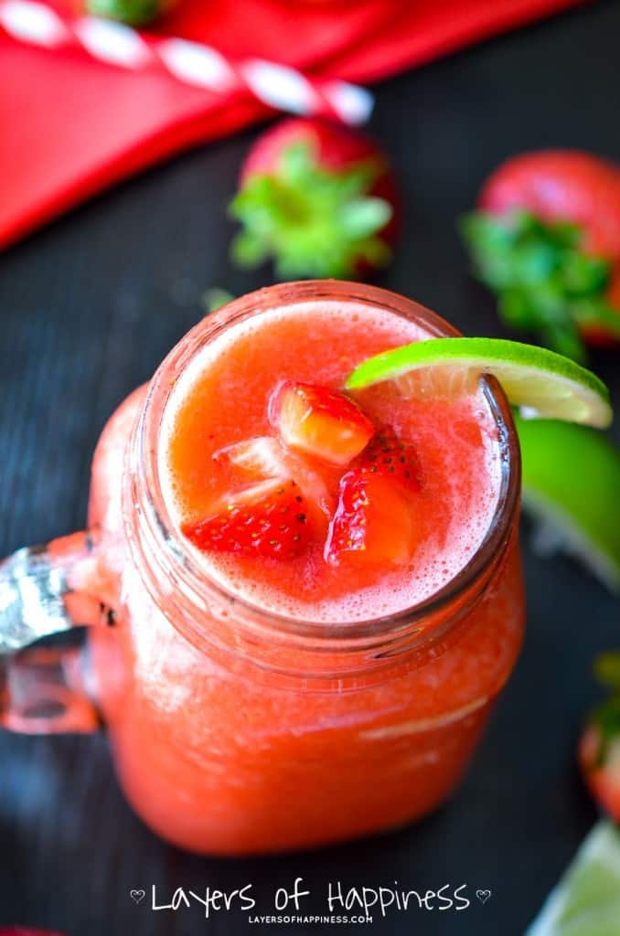 Frozen Strawberry Limeade Drinks