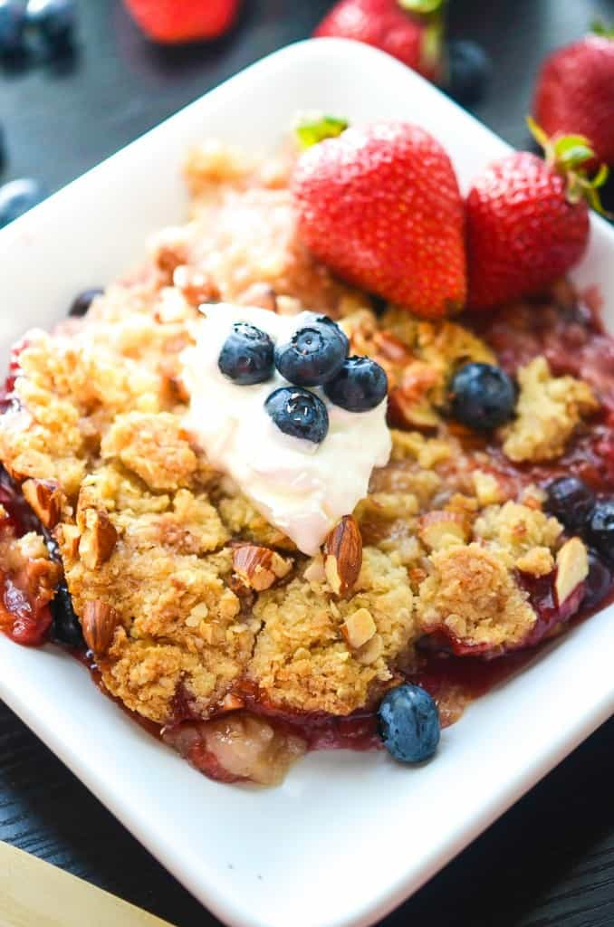 Summer Fruit Coconut Almond Crumble