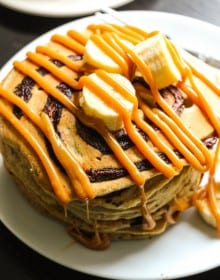 Nutella Swirled Pancakes - Layers of Happiness