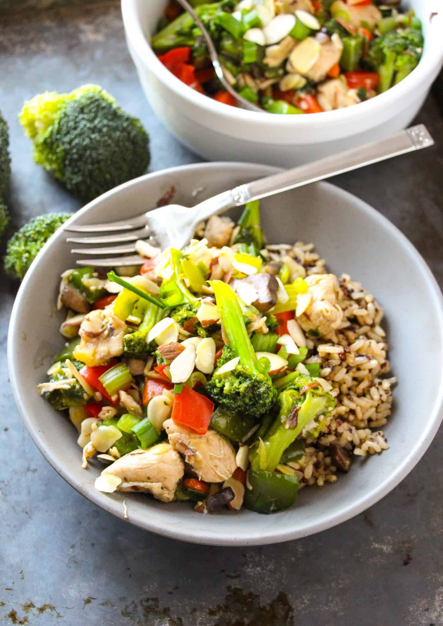 Easy Almond Chicken Stir Fry Layers Of Happiness