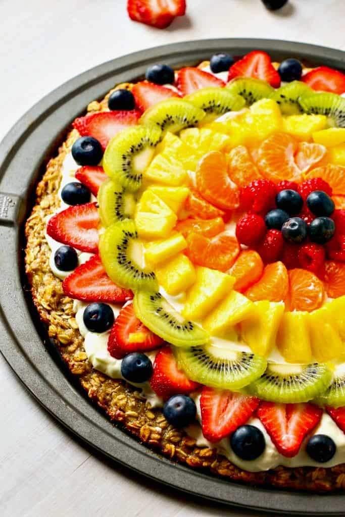 fruit pizza crust healthy calories in fruit