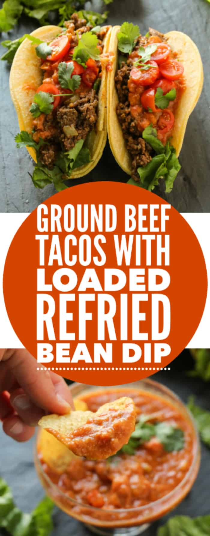 Ground Beef Tacos With Loaded Refried Bean Sauce Layers
