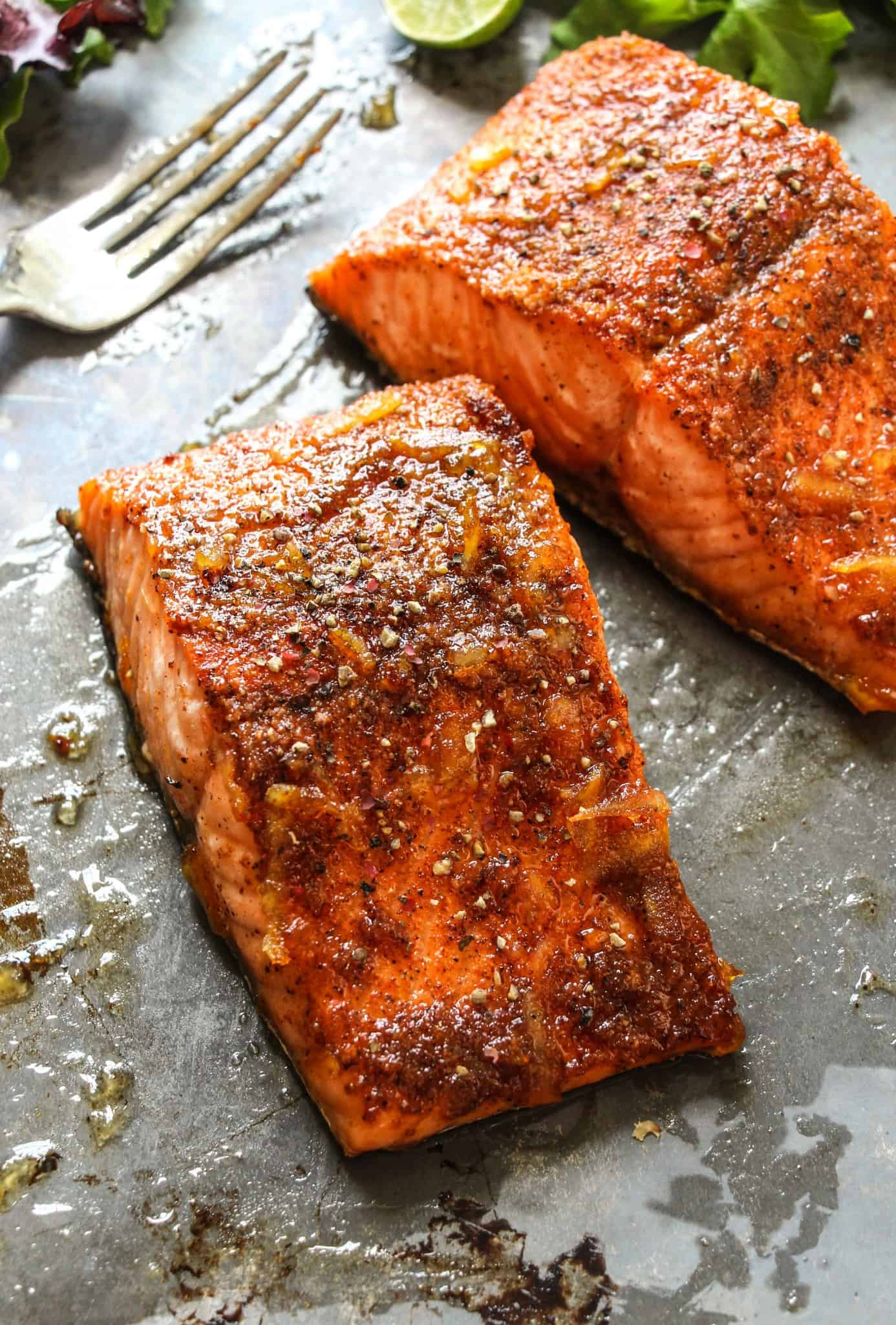 Orange glazed cajun salmon layers of happiness for Best fish taco recipe in the world