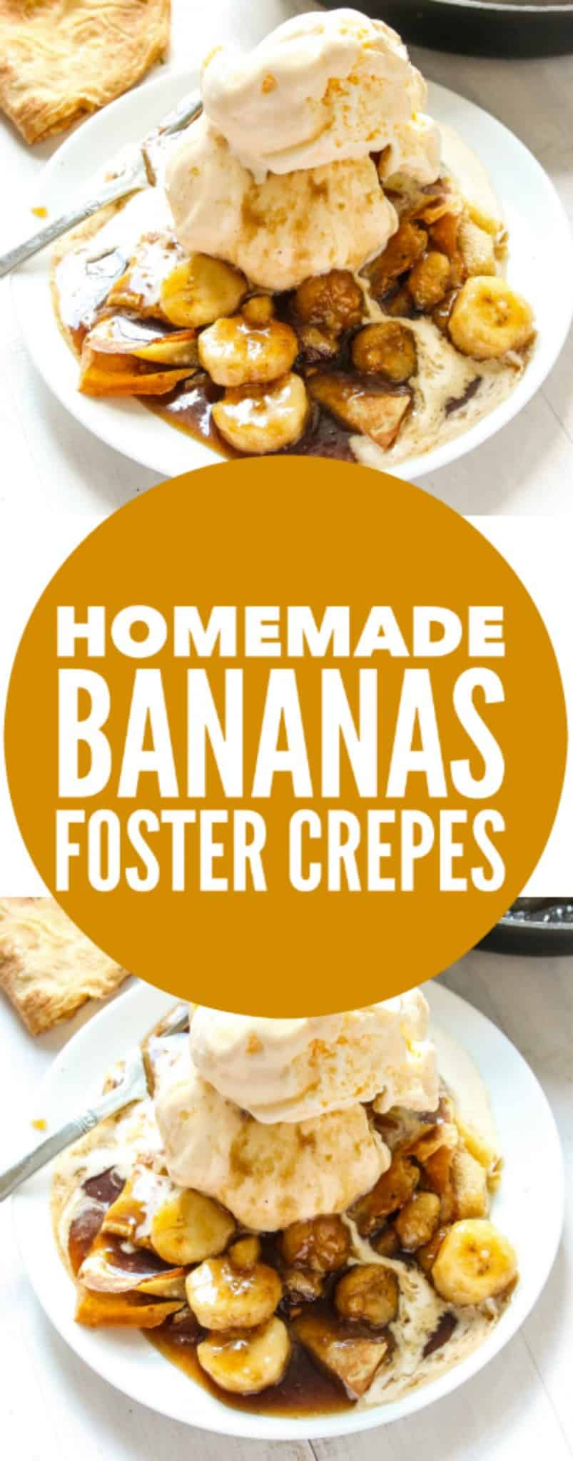 Homemade Bananas Foster Crepes - Layers of Happiness