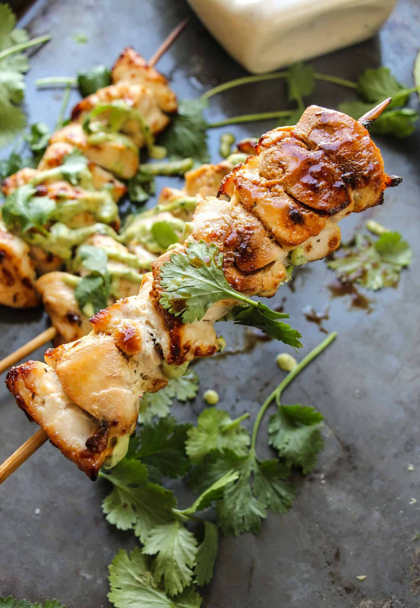 roasted garlic ranch chicken kebabs-3
