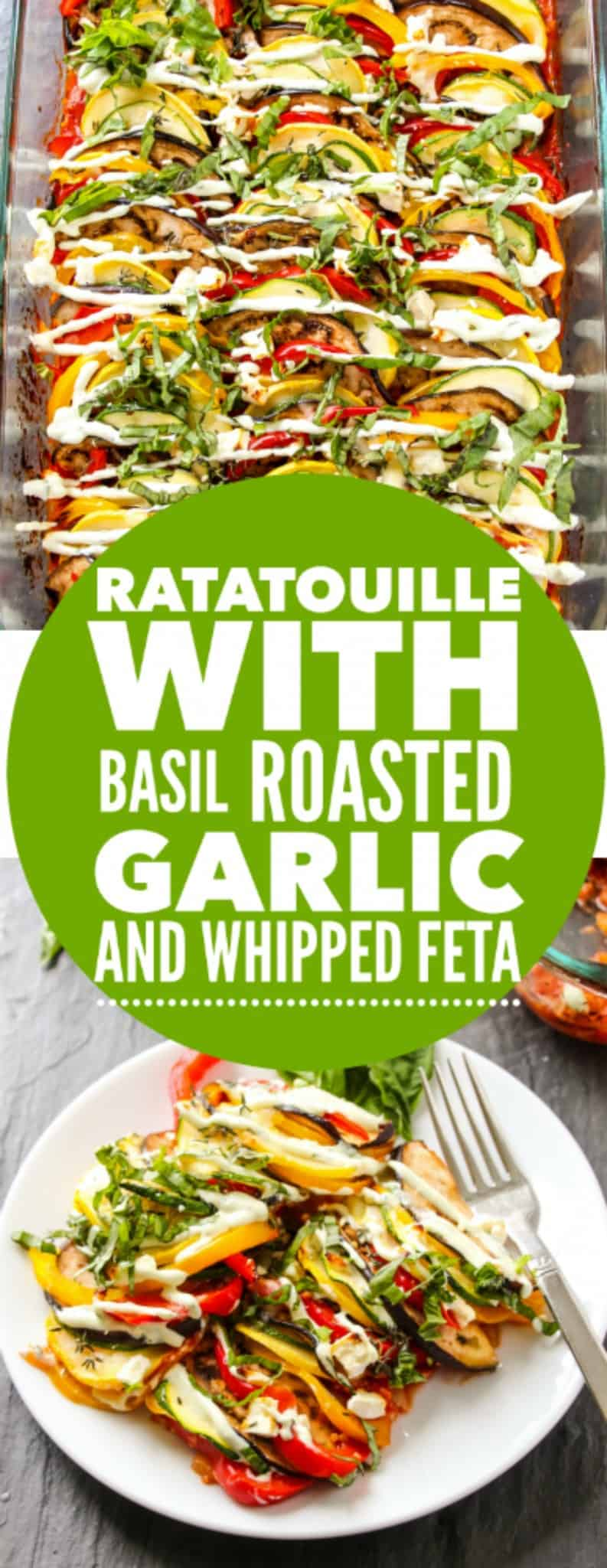 Homemade Ratatouille with Basil Roasted Garlic and Whipped Feta ...