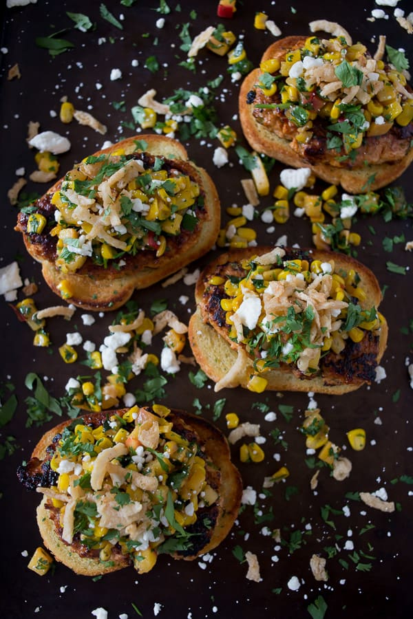 open-face-chicken-burger-with-peach-corn-salsa-1