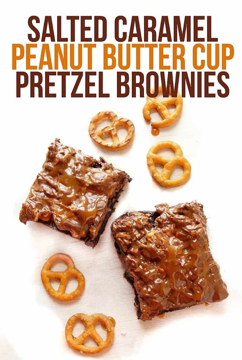 Chocolate Peanut Butter Pretzel Brownies Recipe — Dishmaps