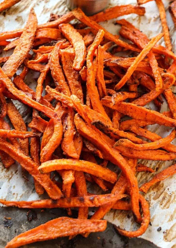... Crispy Baked French Fries : Extra Crispy Baked Sweet Potato Fries