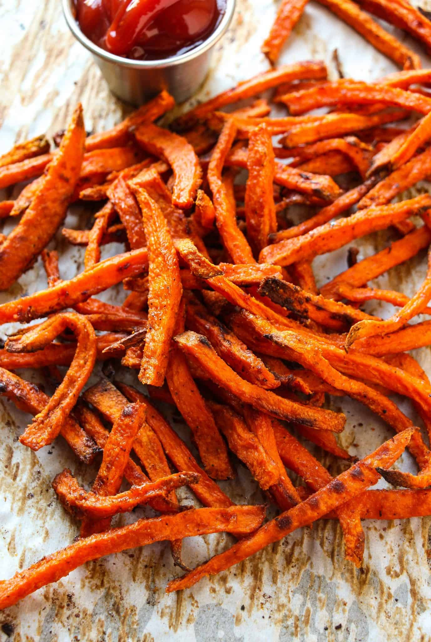 Extra Crispy Baked Sweet Potato Fries - Layers of Happiness