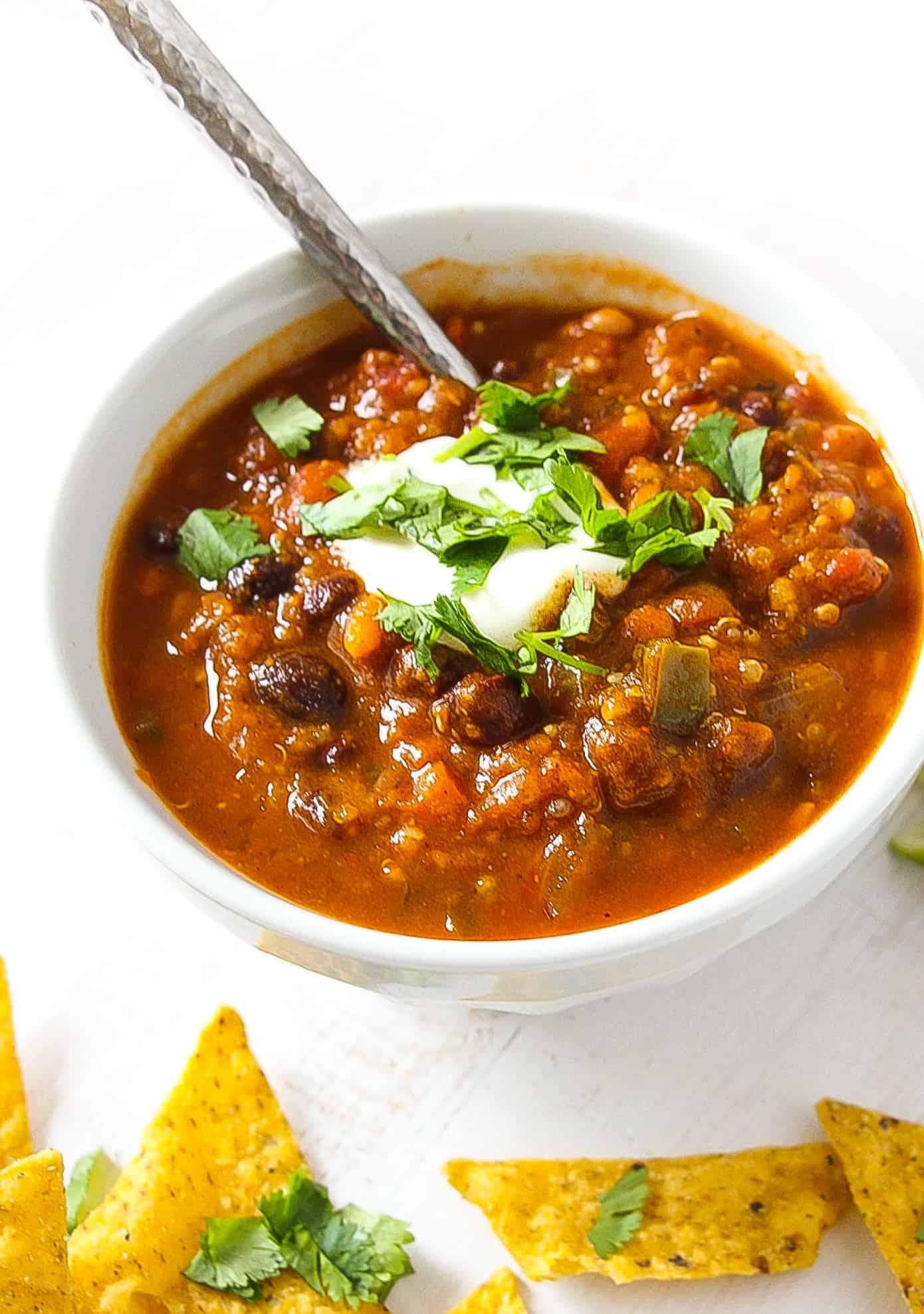 Vegetarian Quinoa Chili - Layers of Happiness