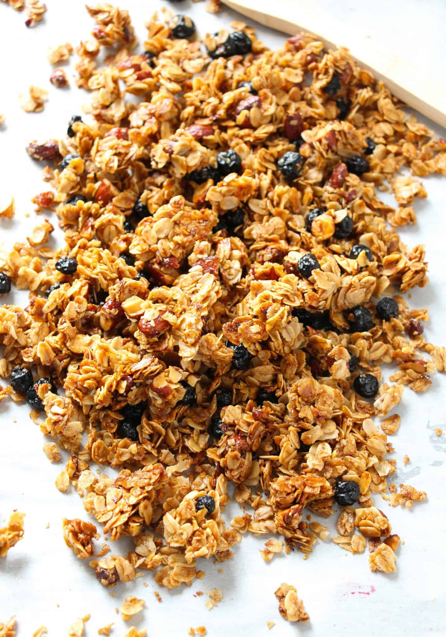 Easy Blueberry Cinnamon Almond Granola - Layers of Happiness