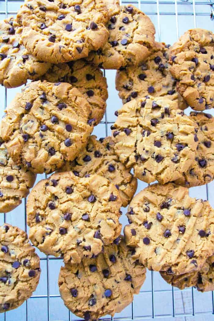 Ingredient Gluten Free Peanut Butter Chocolate Chip Cookies - Layers ...