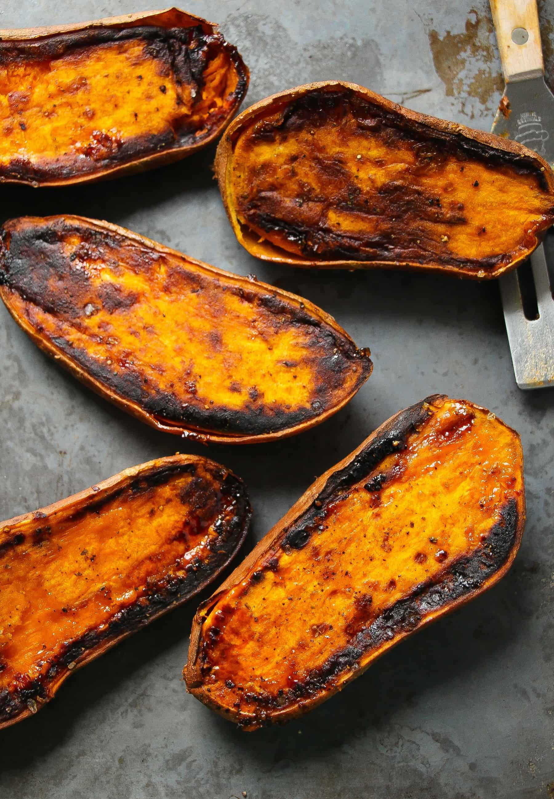 Perfect 30-Minute Baked Sweet Potatoes - Layers of Happiness
