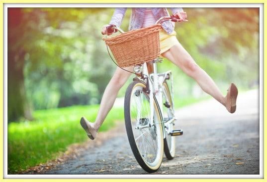 riding bike border