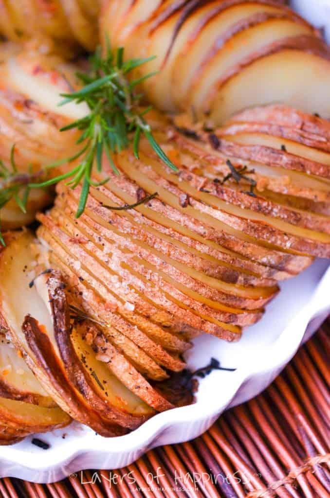 Sliced Potatoes Parmesan bake