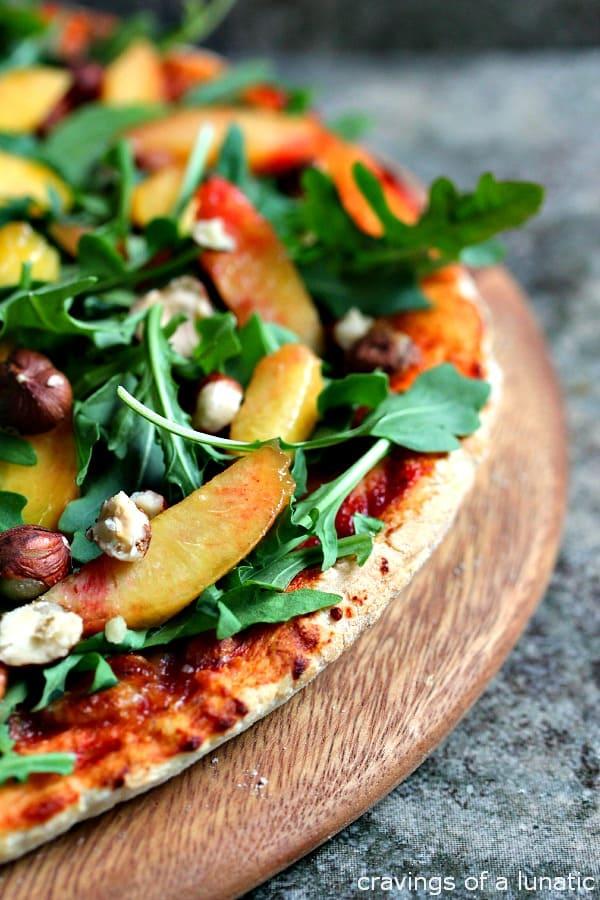 Pizza-with-Arugula-Peaches-and-Hazelnuts-2