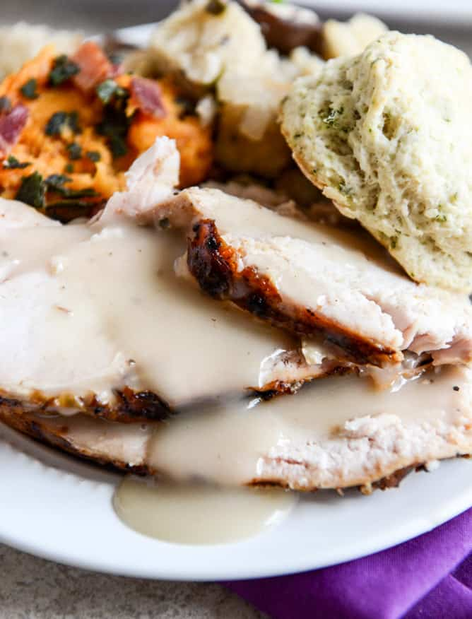 applewood-smoked-turkey-breast-with-cider-bourbon-gravy-I-howsweeteats.com-4