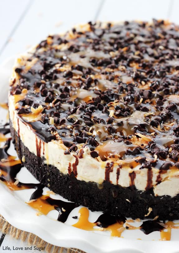 No_Bake_Samoa_Cheesecake