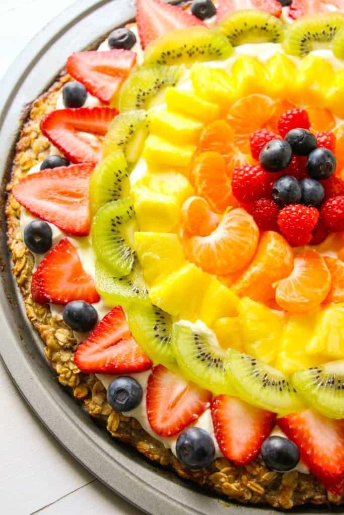 Healthier Homemade Fruit Pizza