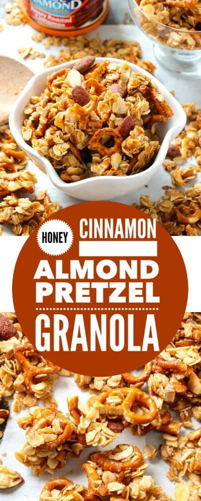 Honey Cinnamon Almond Pretzel Granola