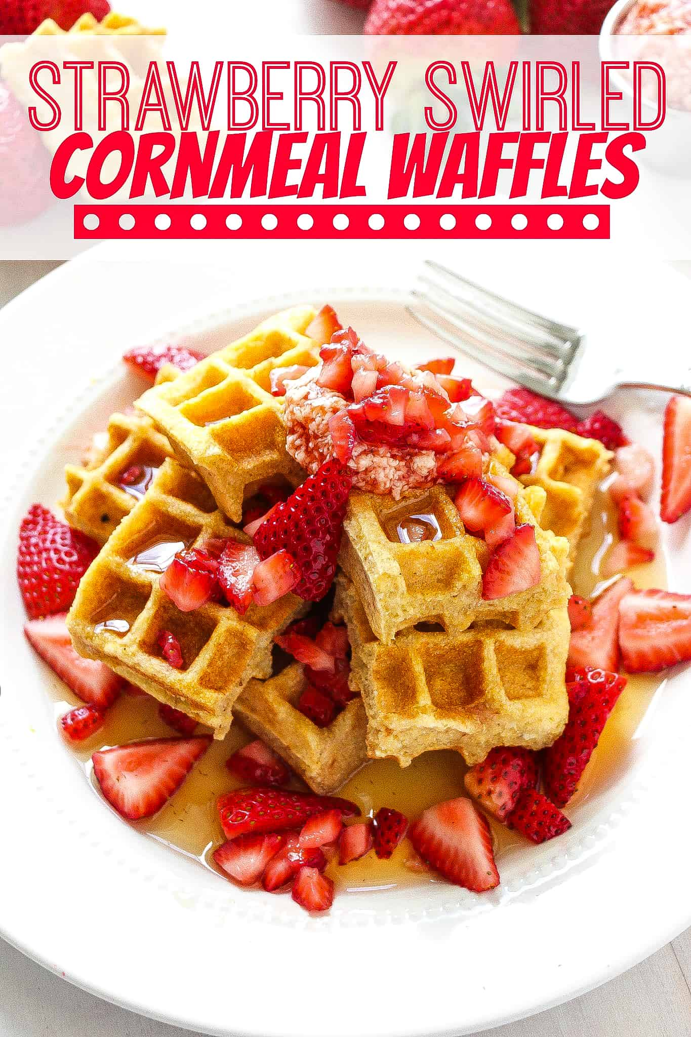 STRAWBERRY-JAM-CORNMEAL-WAFFLES