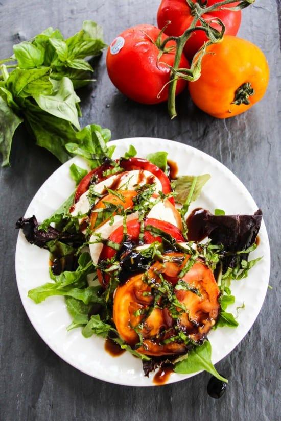 tomato caprese salad a