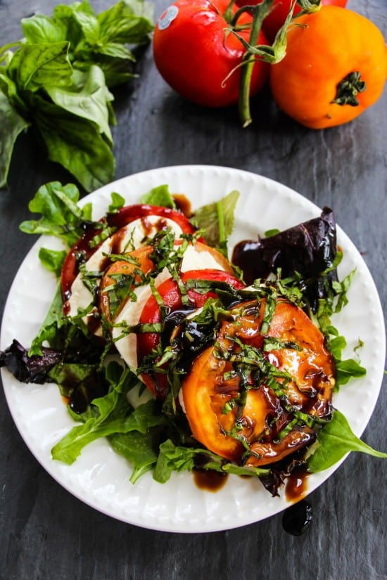 tomato caprese salad d