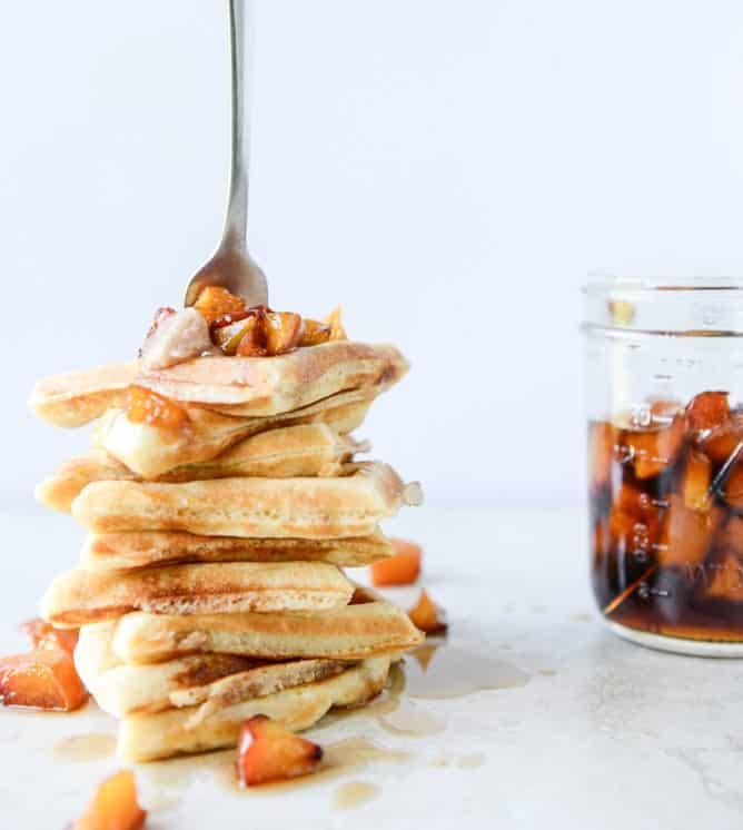 peach-waffles-I-howsweeteats.com-6