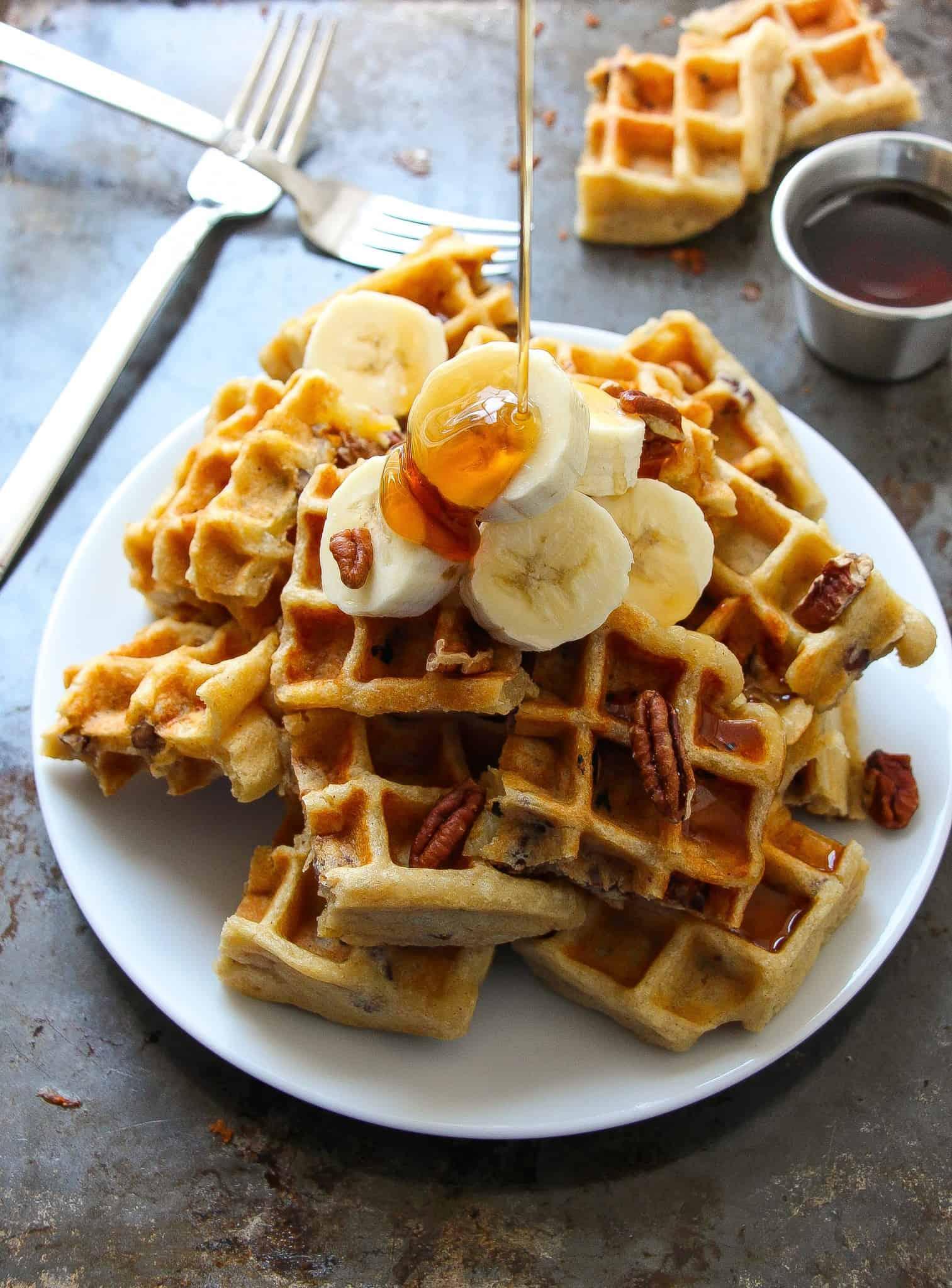 vegan-banana-pecan-waffles