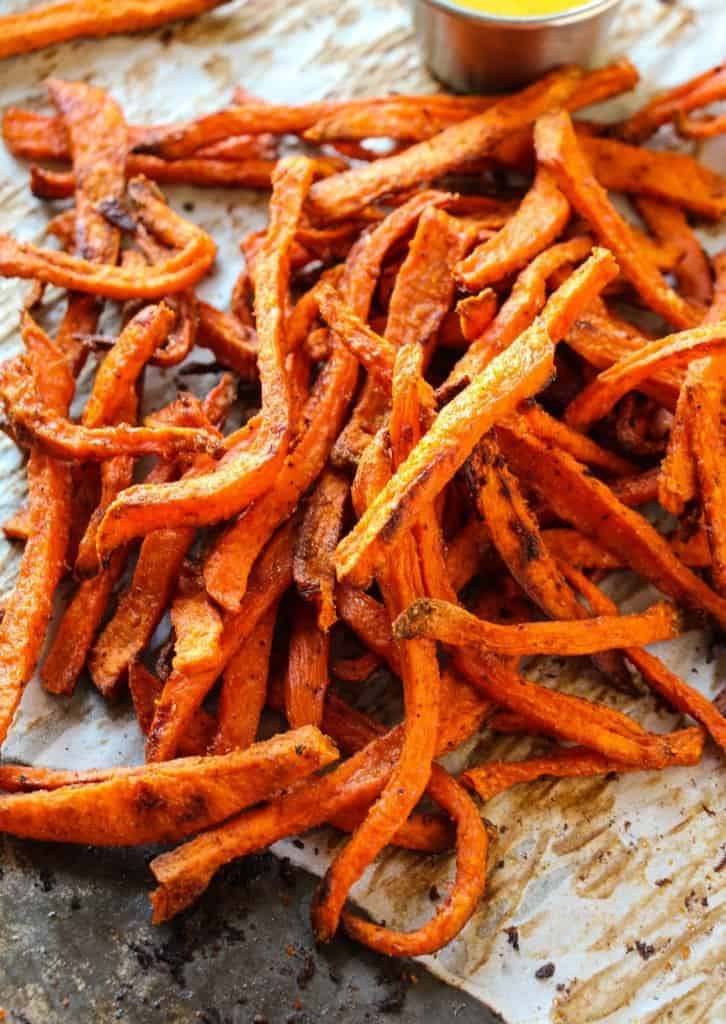 Extra Crispy Baked Sweet Potato Fries Layers Of Happiness
