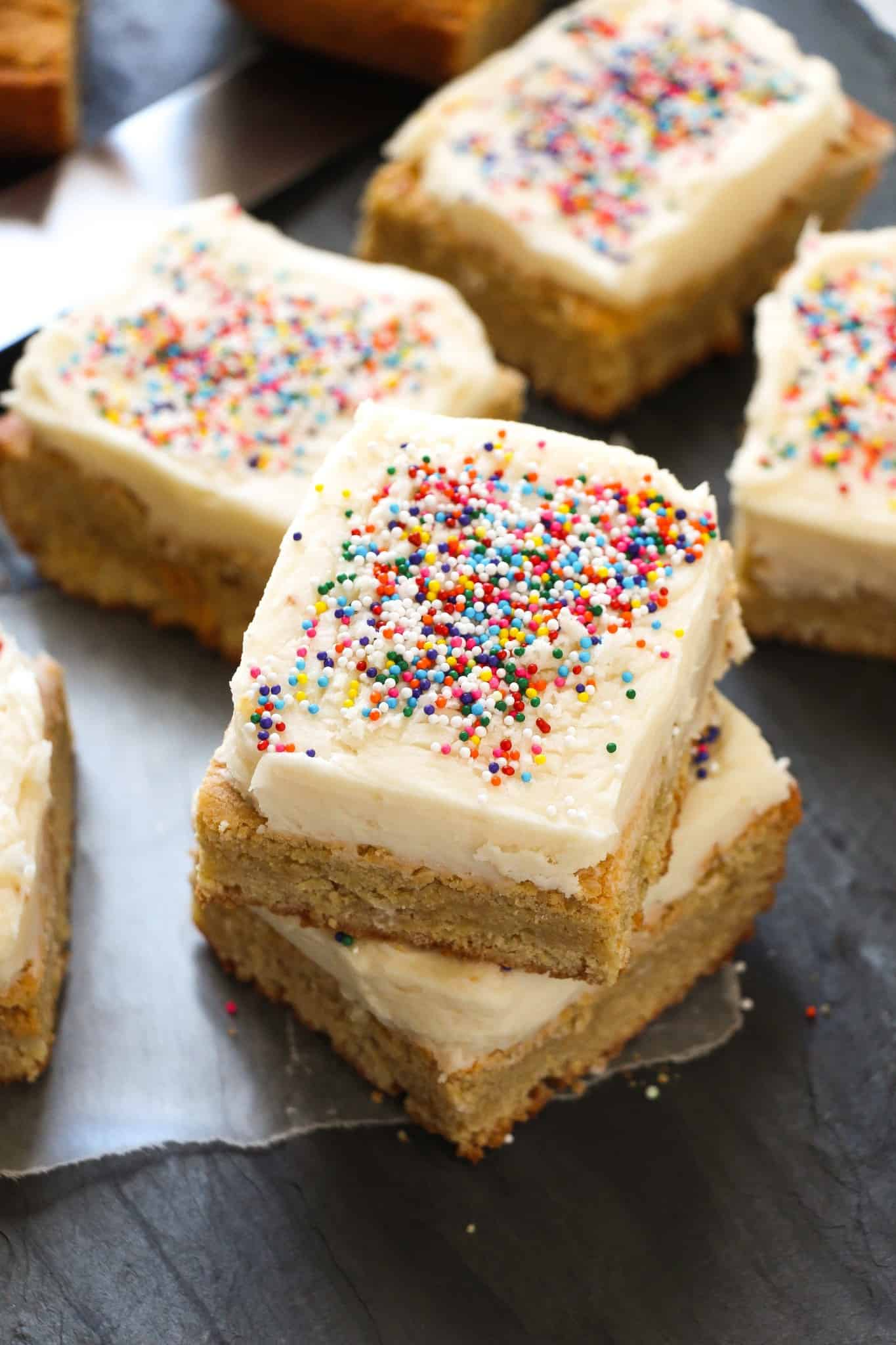 Frosted Sugar Cookie Bars Layers Of Happiness