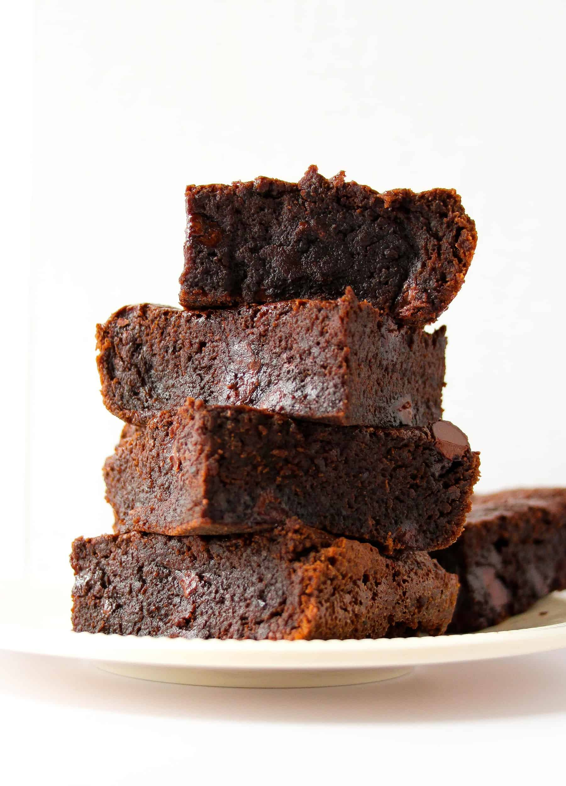 Fudgy Chewy Black Bean Brownies Flourless Gluten Free Layers Of Happiness