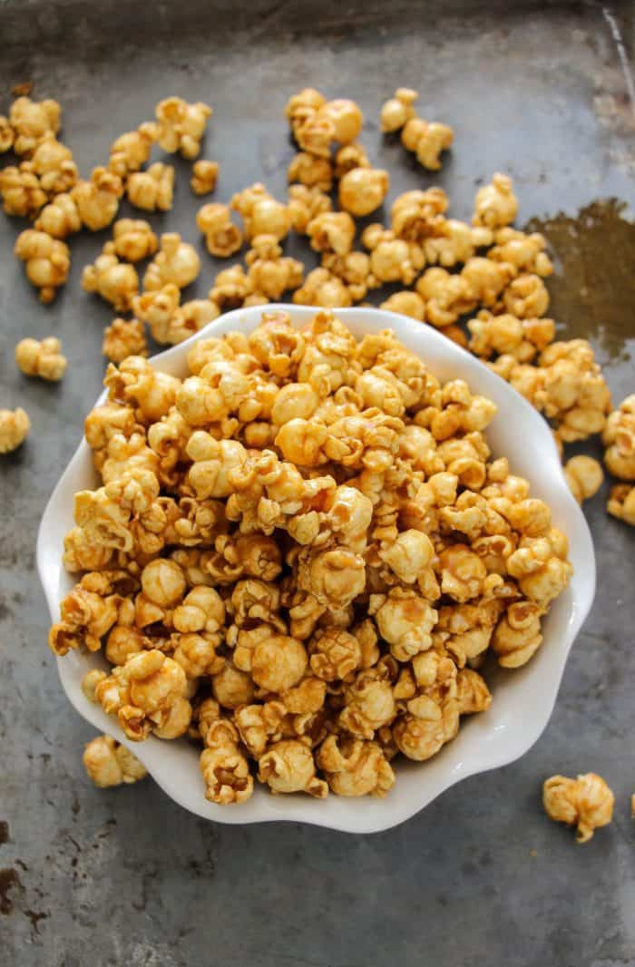Easy 10-Minute Microwave Caramel Corn (BEST EVER) - Layers